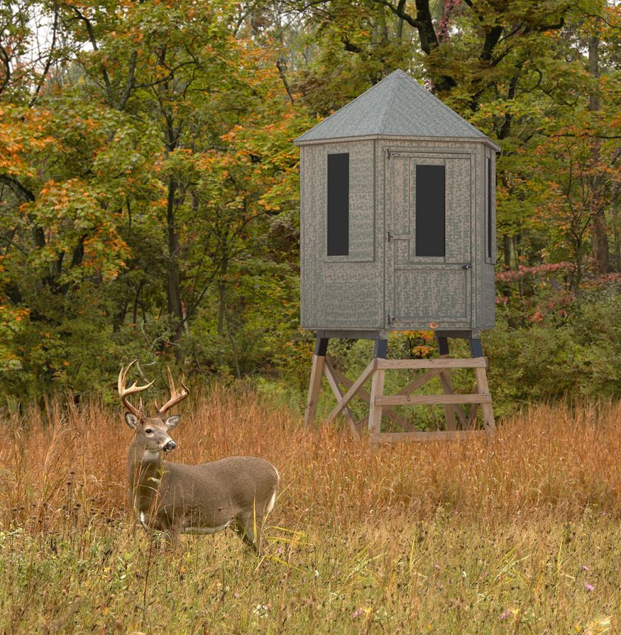 Diy hunting blind hunting blinds for Building deer blind windows