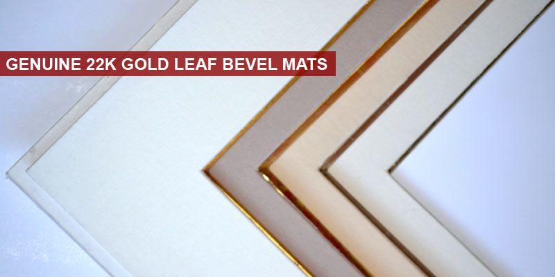Genuine 22k Gold Leaf Bevel Mats Custom Picture Frame Frame Gold Leaf
