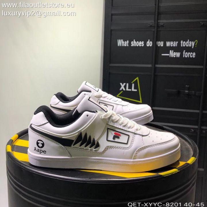 Aape X Fila Tourissimo Low Original Tennis Men Sneakers White Qet Xyyc 8201 135 40 44 Running Shoes For Men Sneakers Sneakers Men