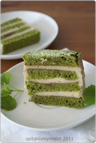 Not So Japanese Layered Matcha Cake Seitan Is My Motor Matcha Recipe Raw Vegan Desserts Food