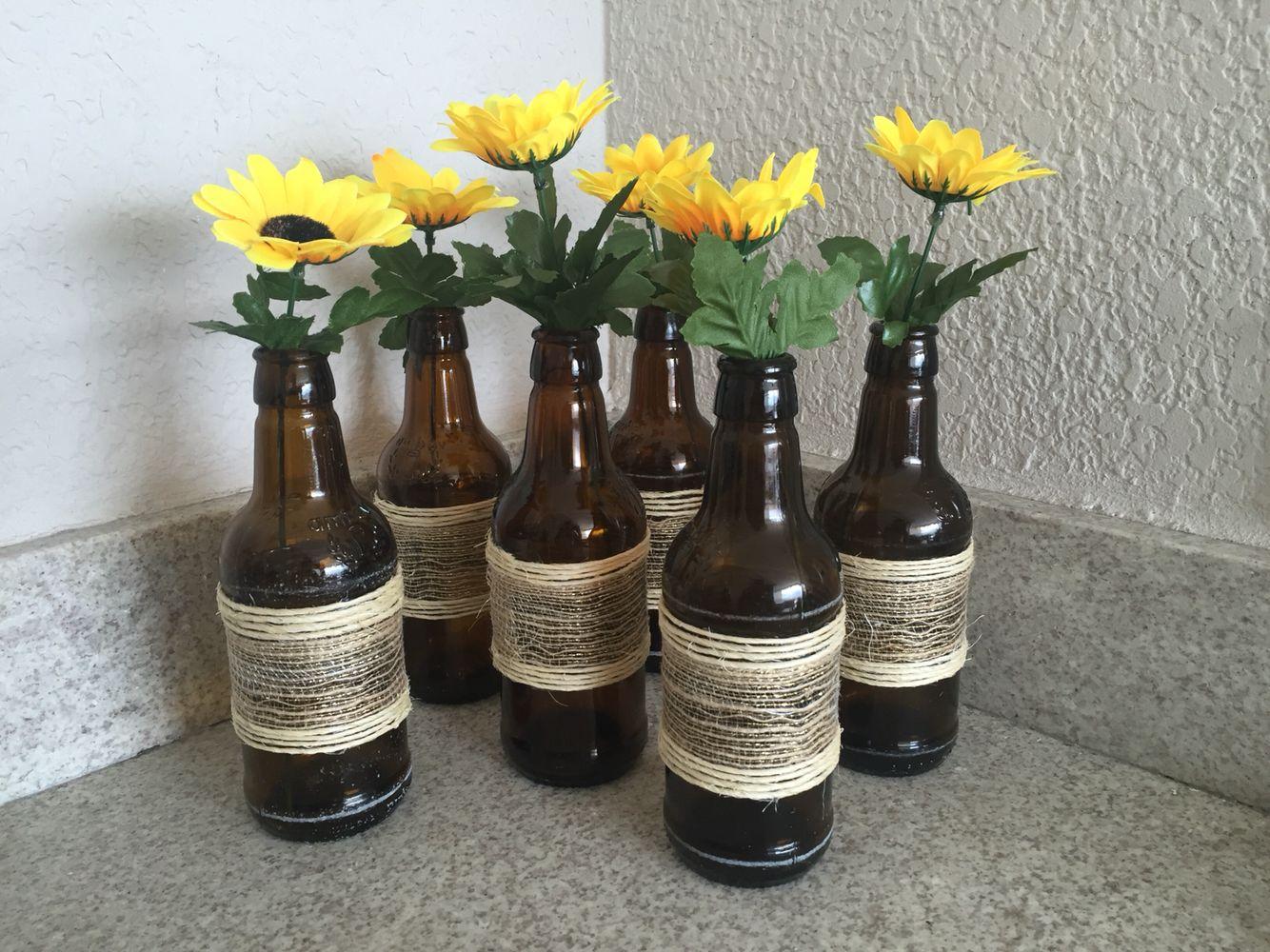 Garrafinha de cerveja decorada