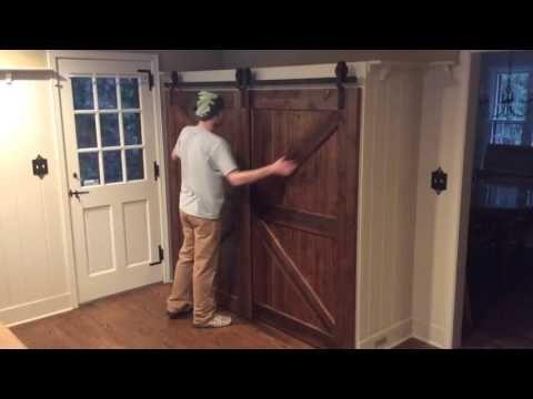 Single Track Bypass Barn Door System Youtube Bypass Barn Door