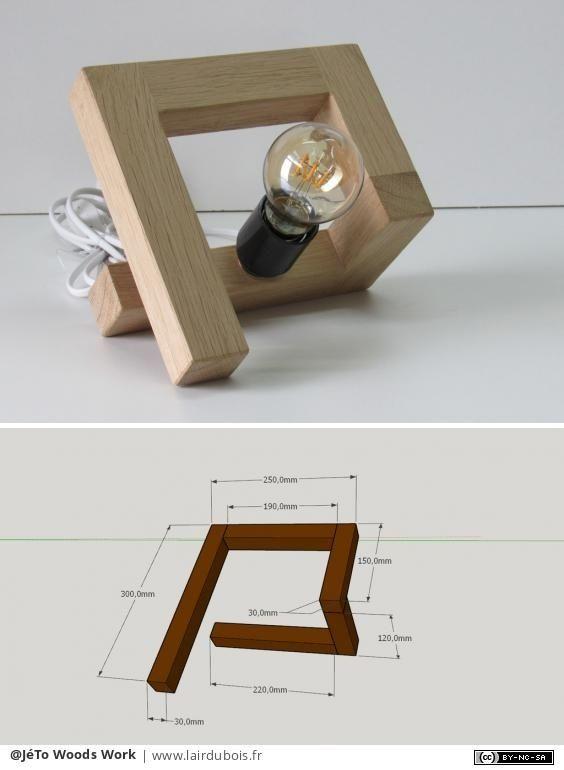 Photo of Lampe design en chêne par JéTo Woods Work