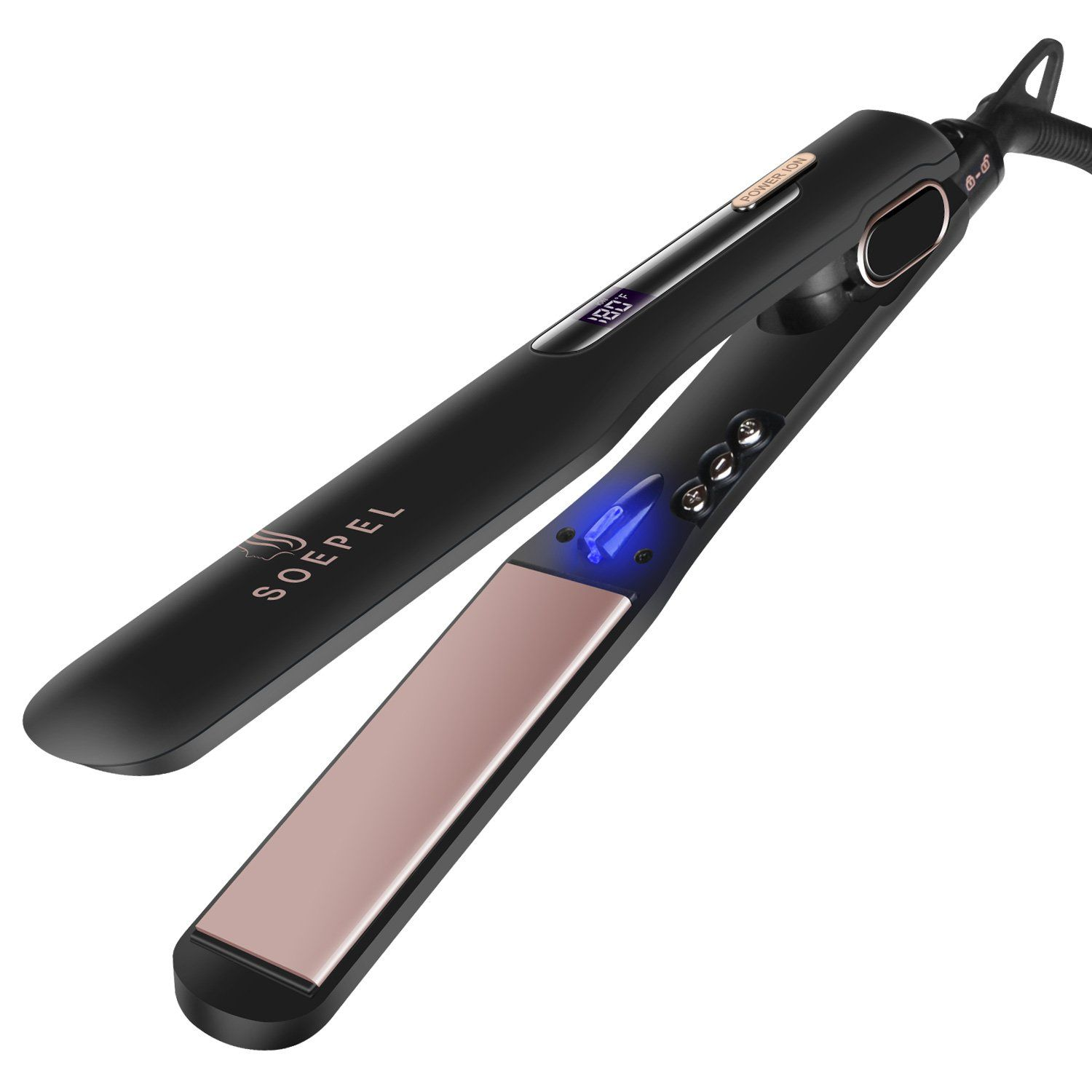 Hair Straightener and Curler 2 in 1 Set. Hot flat iron