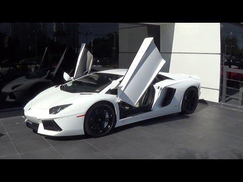 Lamborghini Aventador LP700-4 Drive Engine Sound Revs White BEAST at Lamborghini Miami