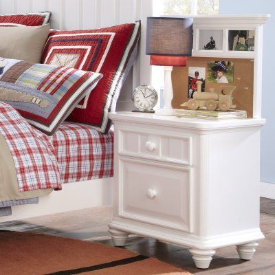 SummerTime 2 Drawer Nightstand - White - HOMM330 Products