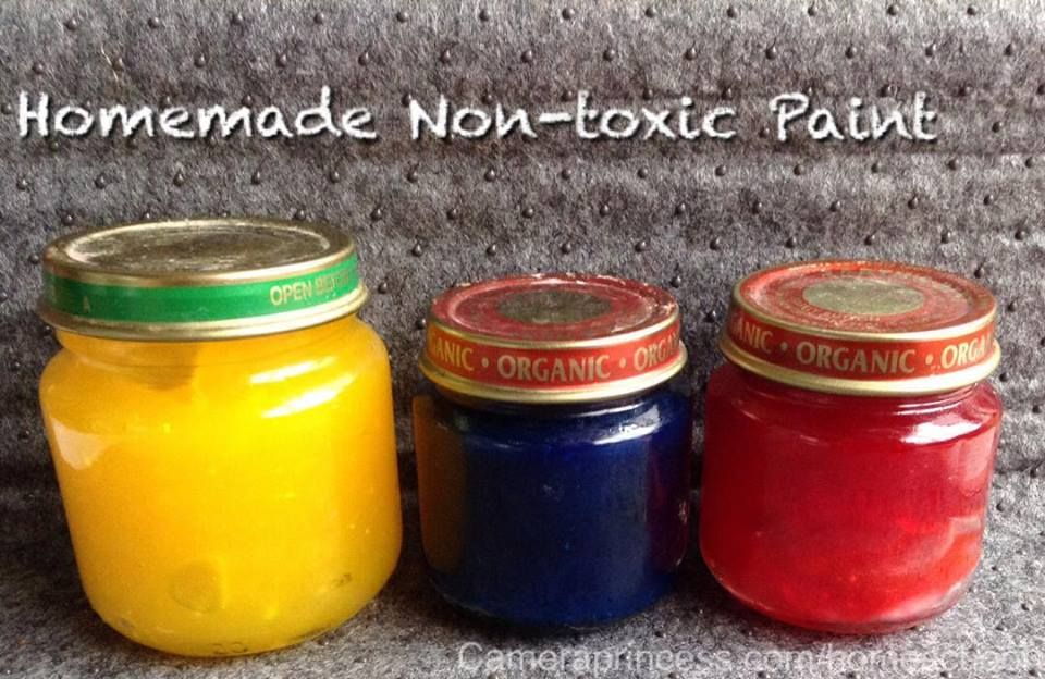 Homemade Nontoxic Paint  Easy Almost free Safe