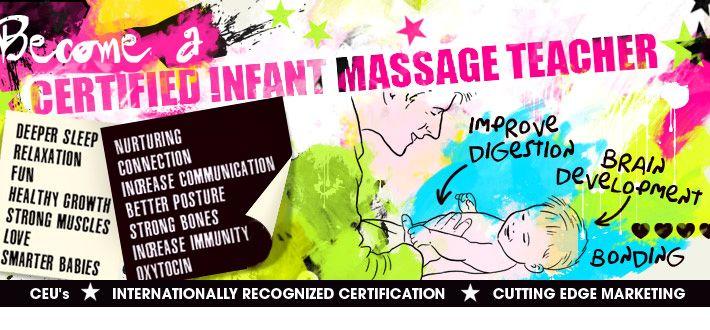 become a certified infant massage teacher (CIMT) www.LiddleKidz.com ...