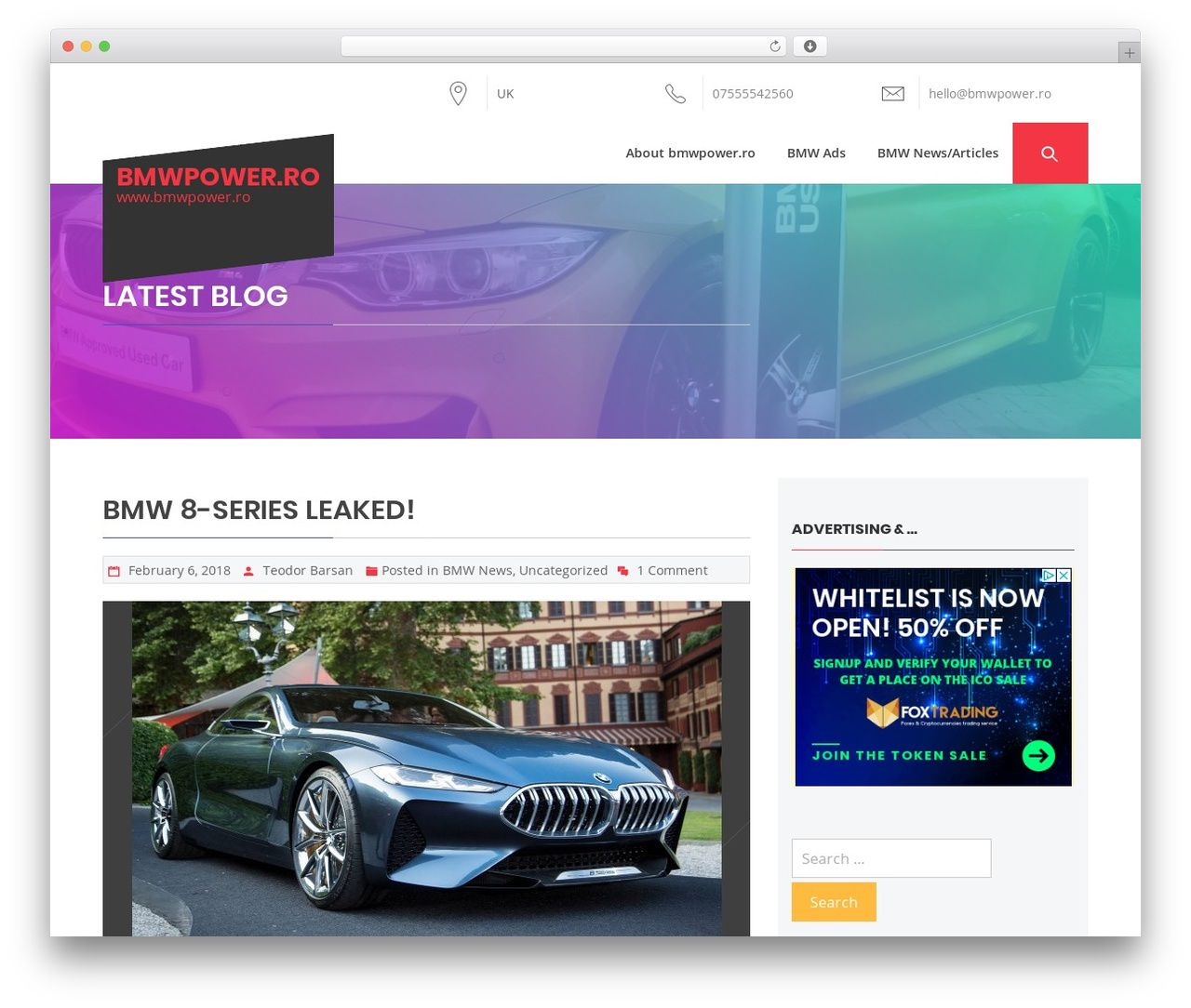 The Automobile Wordpress Template Free Download Bmwpower