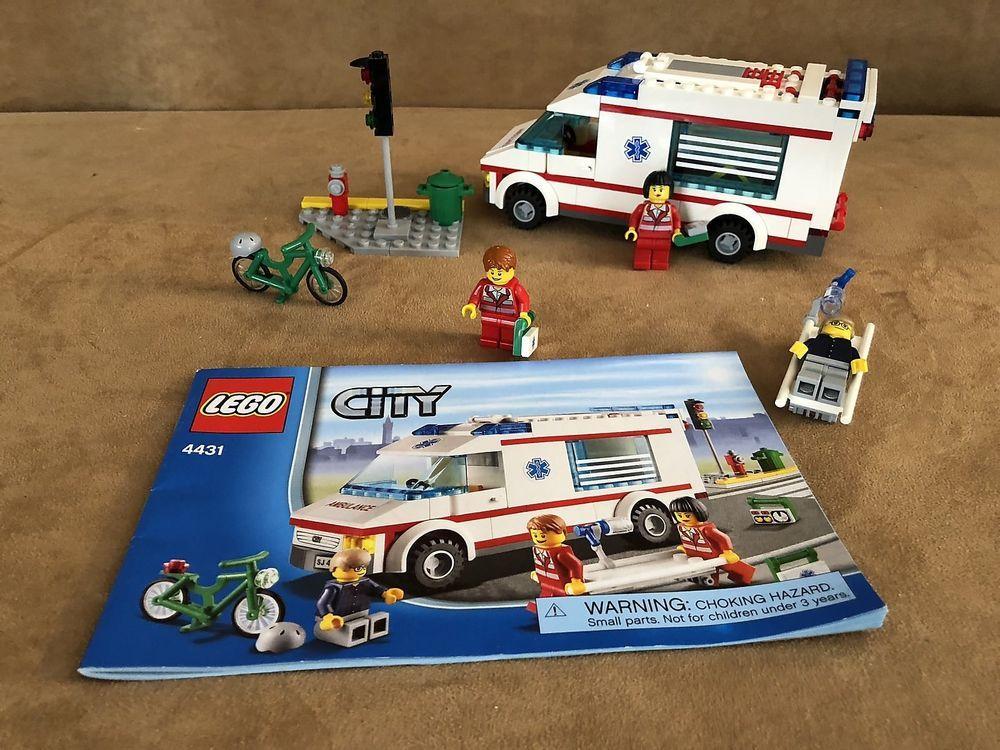 4431 Lego City Ambulance Complete Instructions Minifig Truck