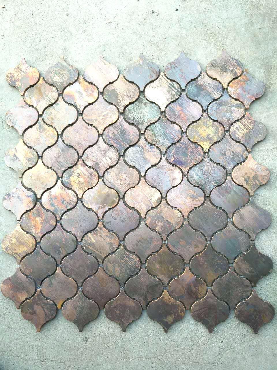 Tiles Arabesque Floor Tiles Uk Arabesque Bathroom Floor Tiles Arabesque Lantern Beacon Copper Tile I Copper Mosaic Trendy Kitchen Backsplash Kitchen Wall Tiles