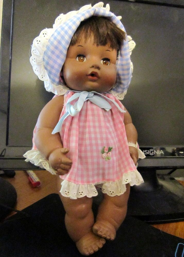 Vintage 1969 Effanbee Butterball Black Baby Doll 6569 Rooted Hair Dollswithclothingaccessories Black Baby Dolls Baby Dolls Effanbee Dolls