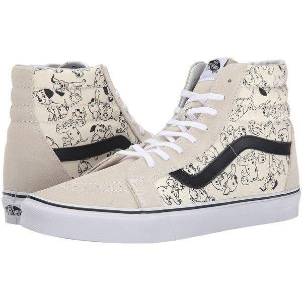 Vans Disney SK8-Hi Reissue Mickey & Friends/Black) Skate Shoes (1,305 MXN) ❤ liked on Polyvore featuring shoes, sneakers, vans, disney, black hi top sneakers, skate shoes, black skate shoes, black hi tops and high top sneakers