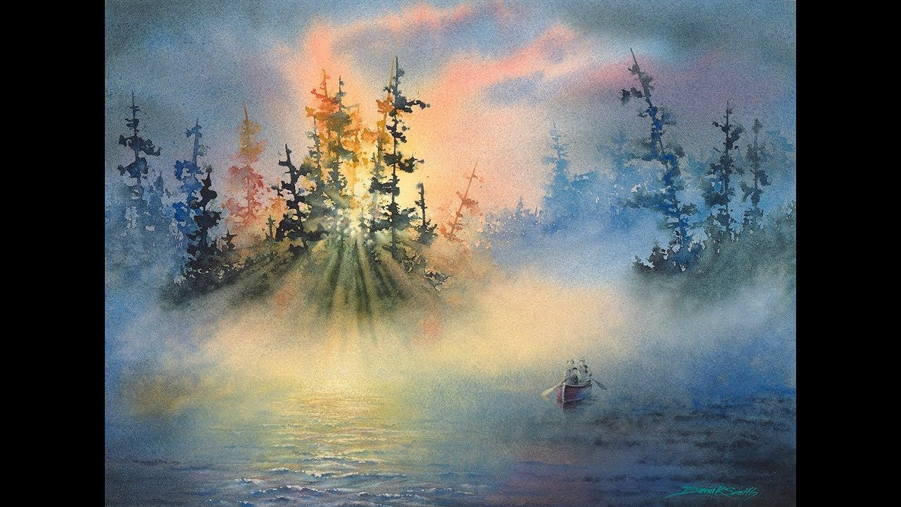 David R Smith Watercolor Mist Demo Abstract Watercolor Tutorial Art Demonstrations Watercolor Art Diy