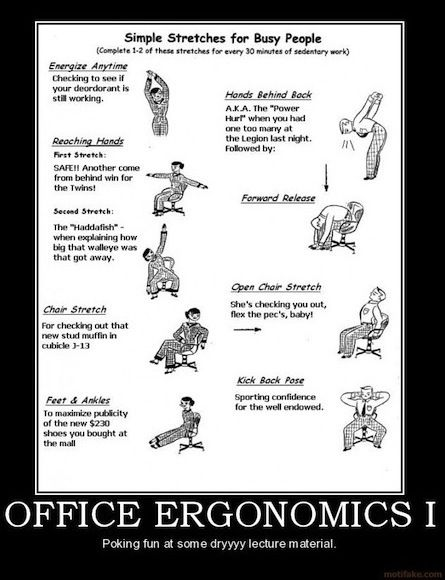 how to get enough exercise office
