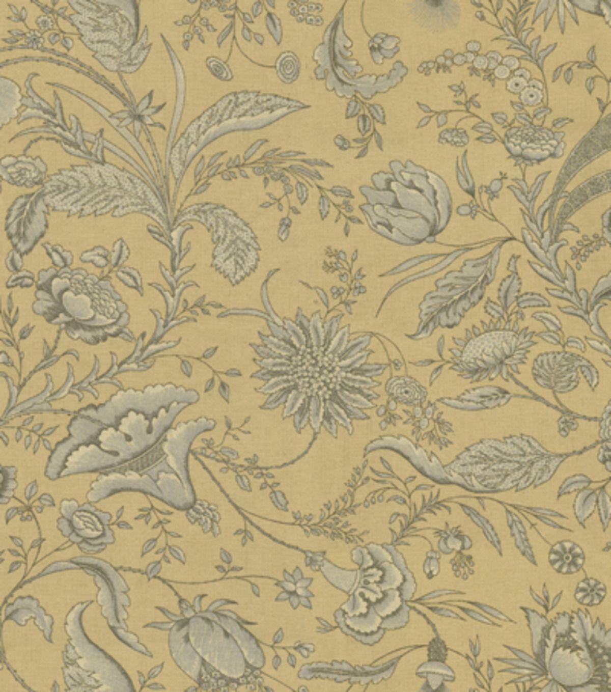 Home Decor Print Fabric-Waverly Fanciful IronstoneHome Decor Print Fabric-Waverly Fanciful Ironstone,