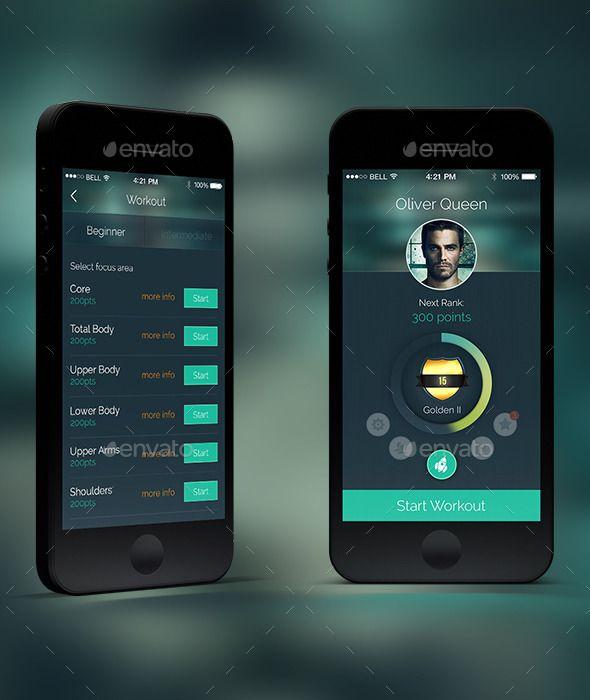 doit fitness app user interface template psd design ui download