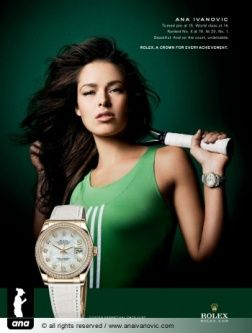 Ana Ivanovic Rolex advertisement