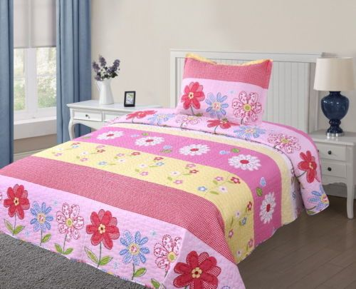 Flower power teen girls bedroom and