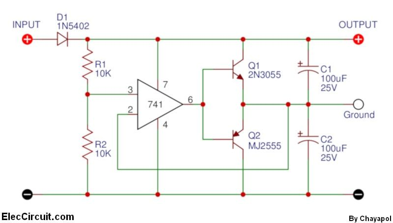power supply splitter circuit using op amp constructionpower supply splitter circuit using op amp