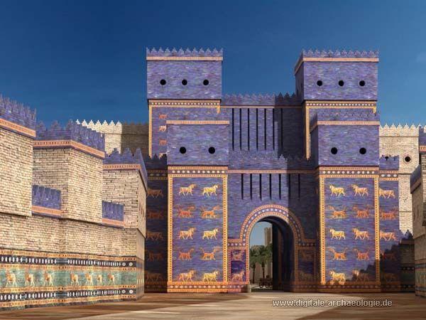 Babylon Irak Prozessionsstrasse Mit Ischtar Tor Bauzustand Z Zt Nebukandezars Anfang 6 Jh V Chr Gate Of Babylon Ancient Babylon Ancient Mesopotamia
