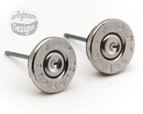 LIMITED  Remington 380 Automatic Stud Earrings  by Gr0glmann, $24.99