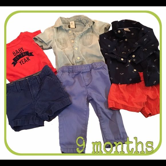 Super 9m bundle 6 pieces from Carter's/Oshkosh, perfect condition, no stains, no holes, no fading. Carter's Tops