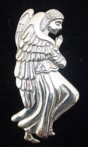 Praying-Angel-Sterling-Christmas-Ornament-Pendant-1999-Hand-and-Hammer-2532