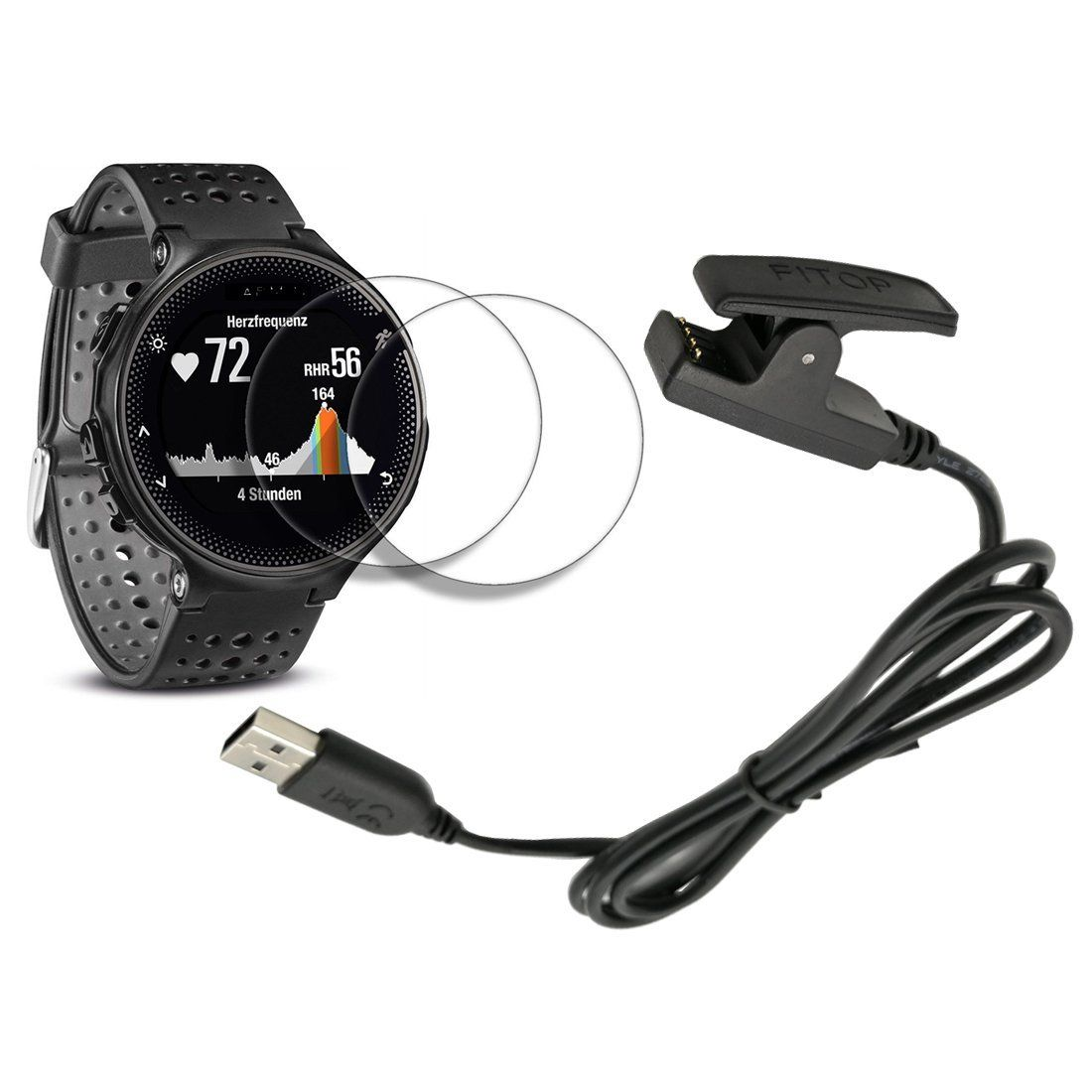 X1 for Garmin forerunner 235 Charger 230 630 Charging Clip Sync Data