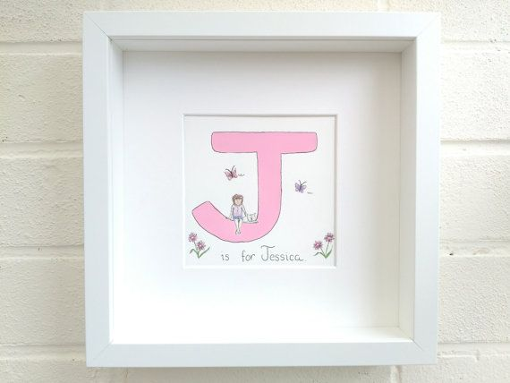 Name frame Personalised gift name in a frame entirely | ♥ ETSY ...