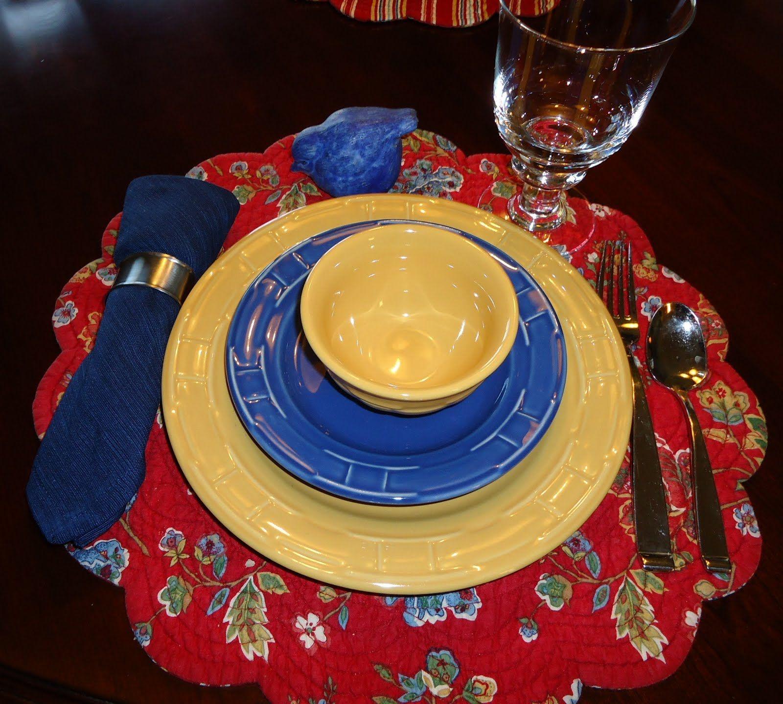 Longaberger pottery place setting | Table Dressing | Pinterest ...