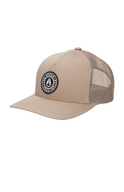 a7062446b6b6cf Badge Trucker Hat - Khaki   Nixon Neo Preen   Hat me.   Hats, Hats ...