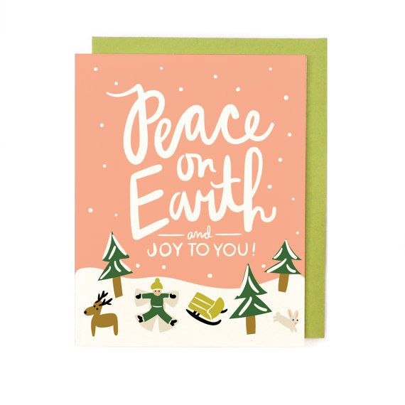 peace on earth holiday card singles box set coordinating