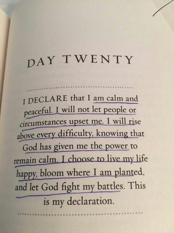 I will let God fight my battles  #faith #declaration #peace