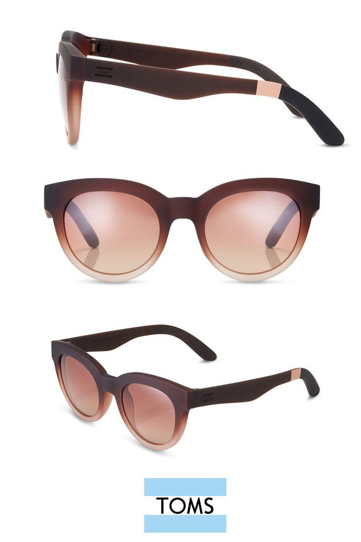 TOMS Fin En Denim Sunglasses with Rose Mirror Lens WLCpwYxL