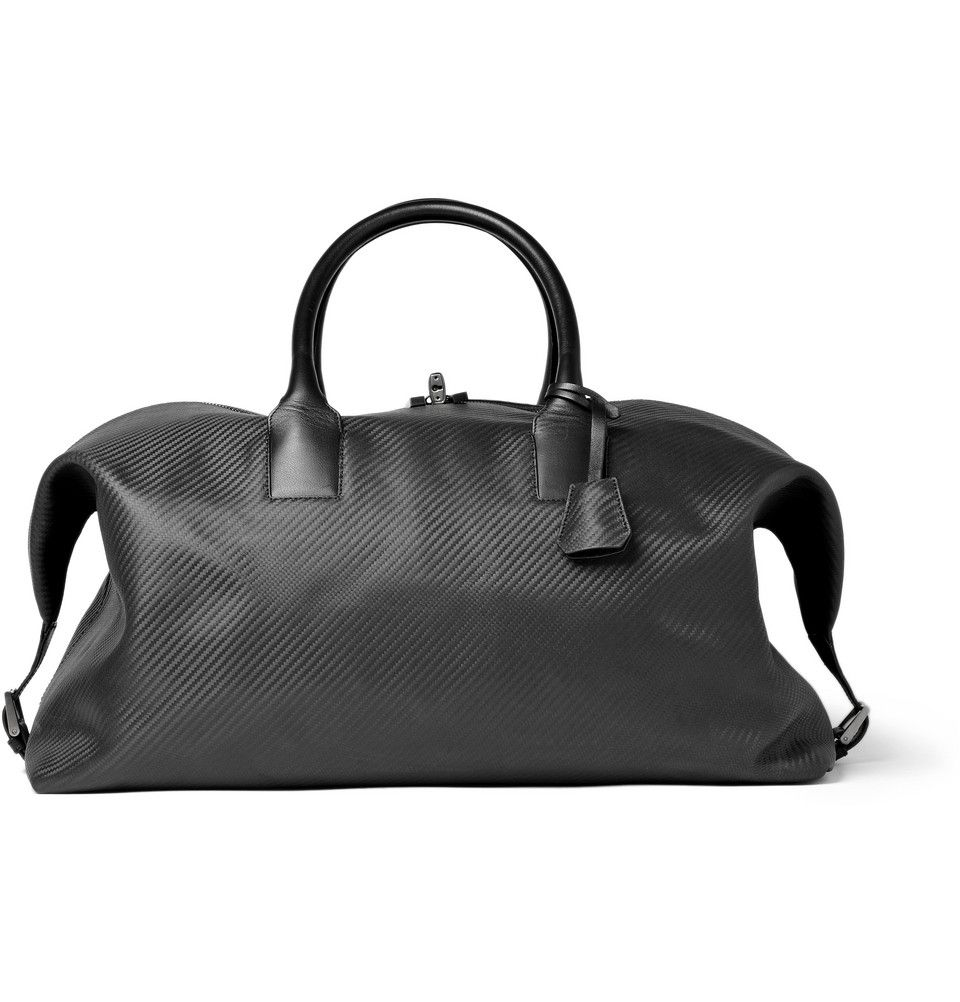 Chassis Leather Holdall Bag by Dunhill: With rubber handles and a ...