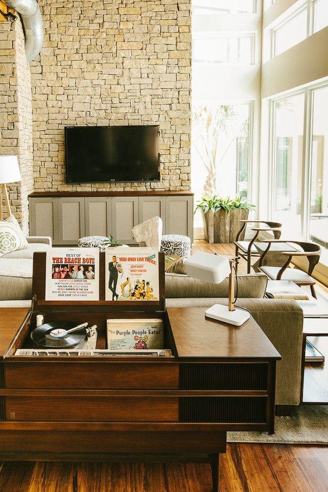 midcentury simple deep brown vinyl shelf table and storage of ideas rh pinterest com