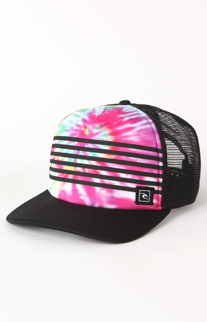 Rip Curl Boardie Collage Trucker Hat Tie Dye Party a9036d7dd3f1