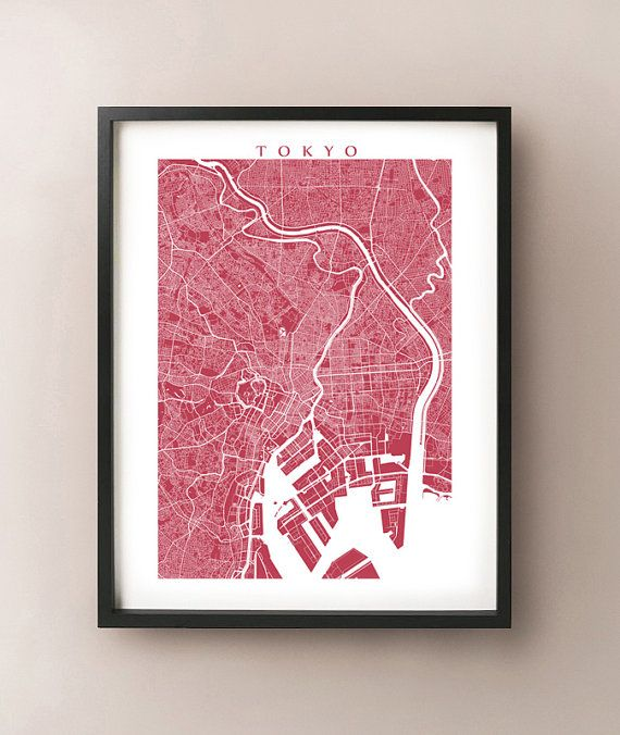 Tokyo Map Art Print Features The Stunning Streets Of Tokyo Japan - Japan map view