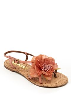 coral flower sandals.