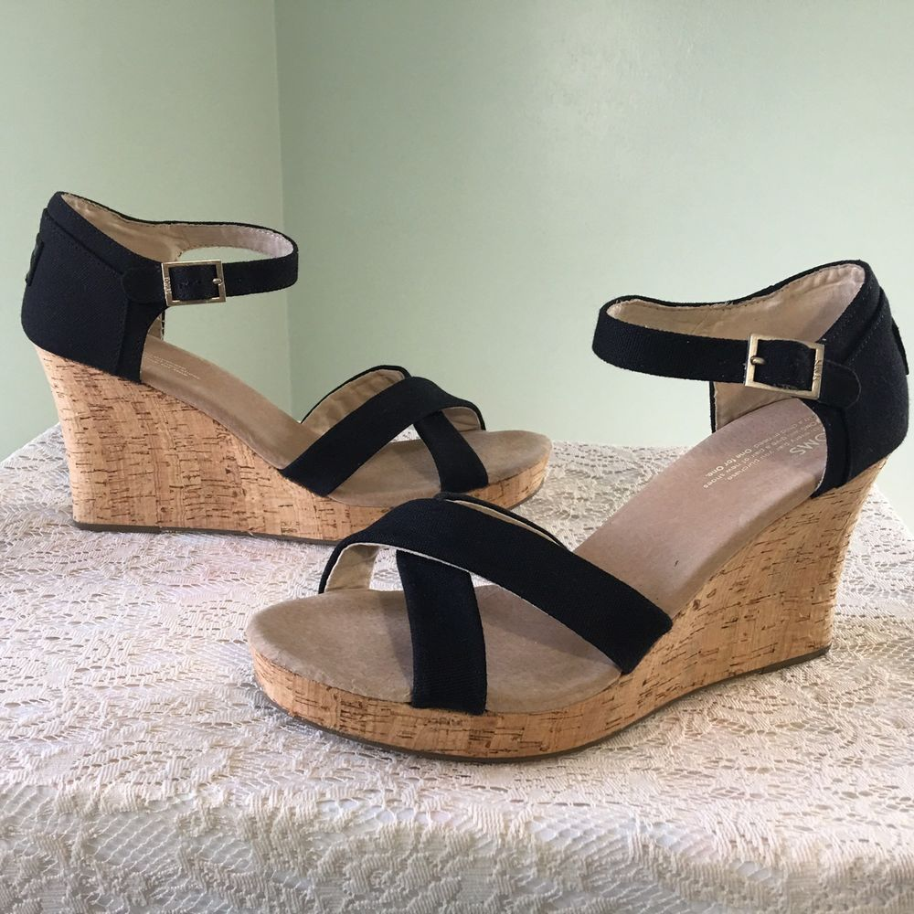 TOMS Platform Wedge Sandals Size 12