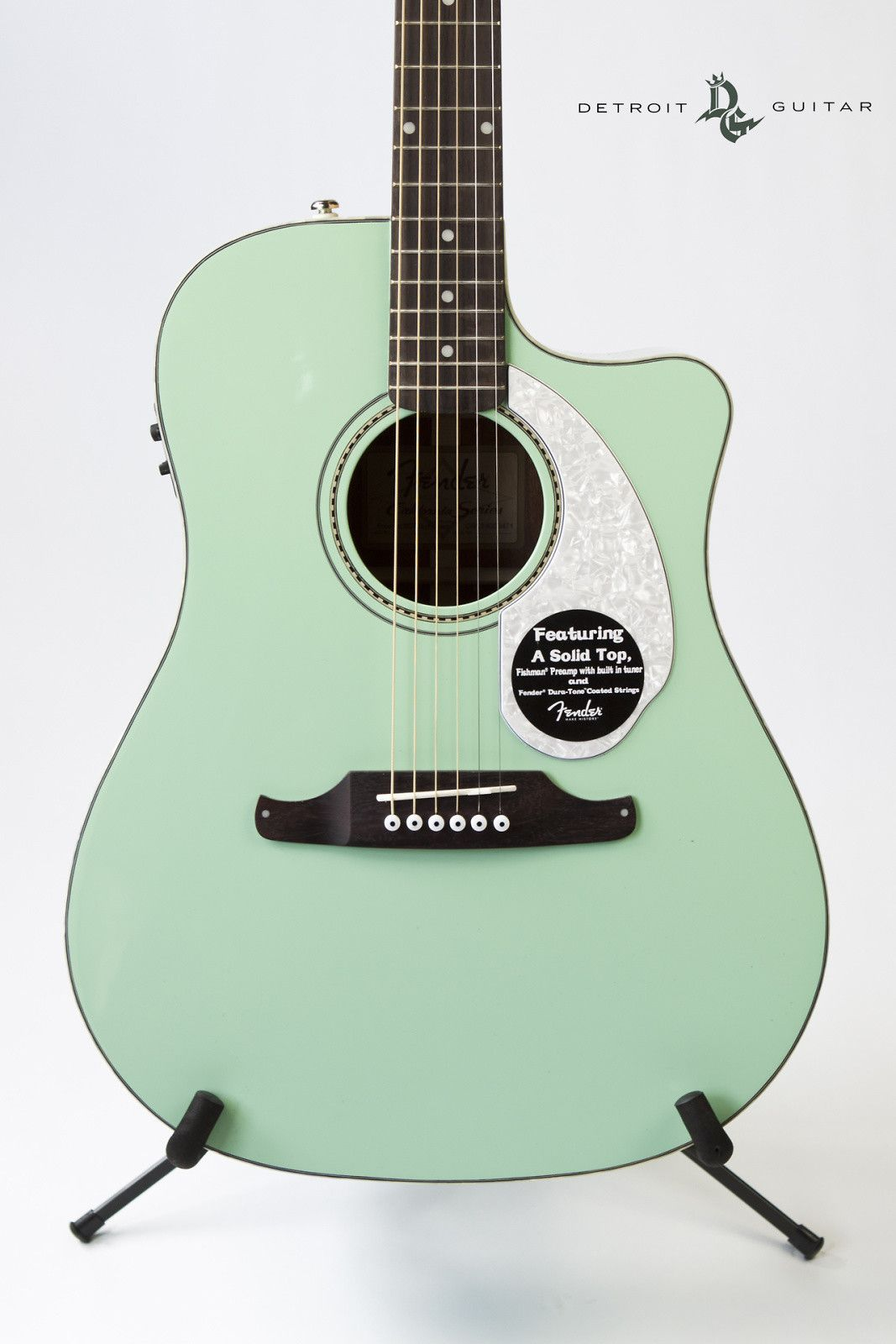 Fender Sonoran Sce Cutaway Dreadnought W Electronics Surf Green Reverb Fender Acoustic Fender Custom Guitars