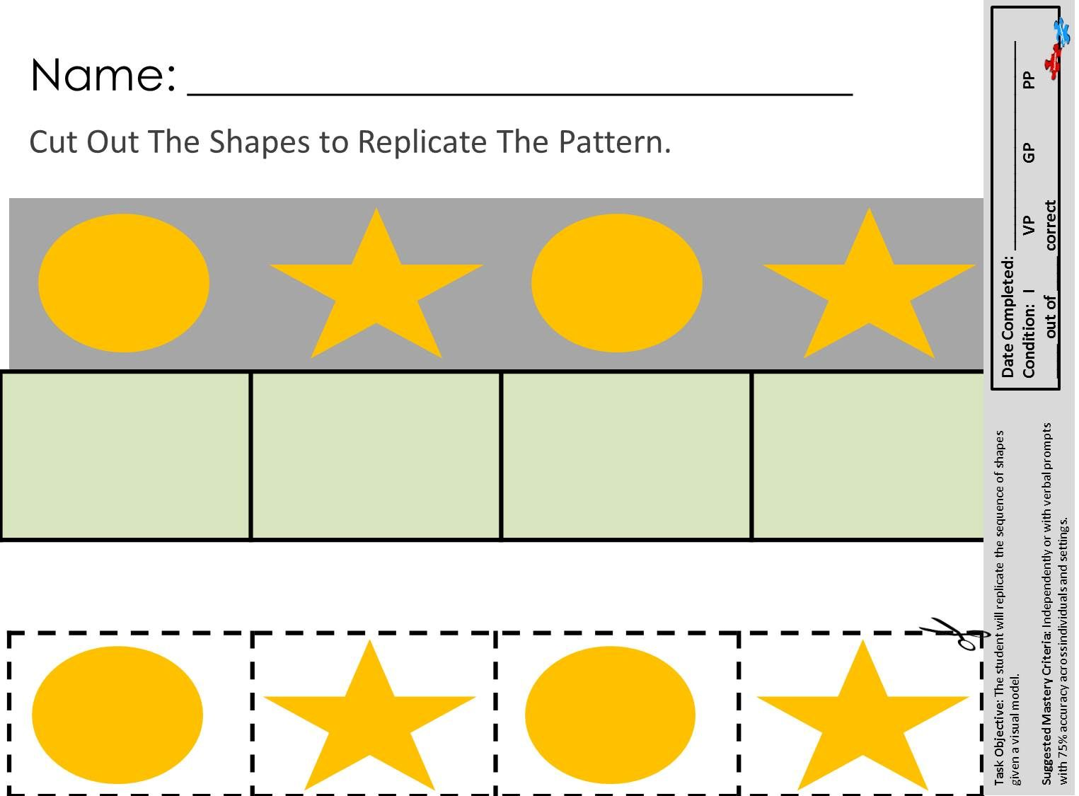 Great Visual Performance Worksheets Available At
