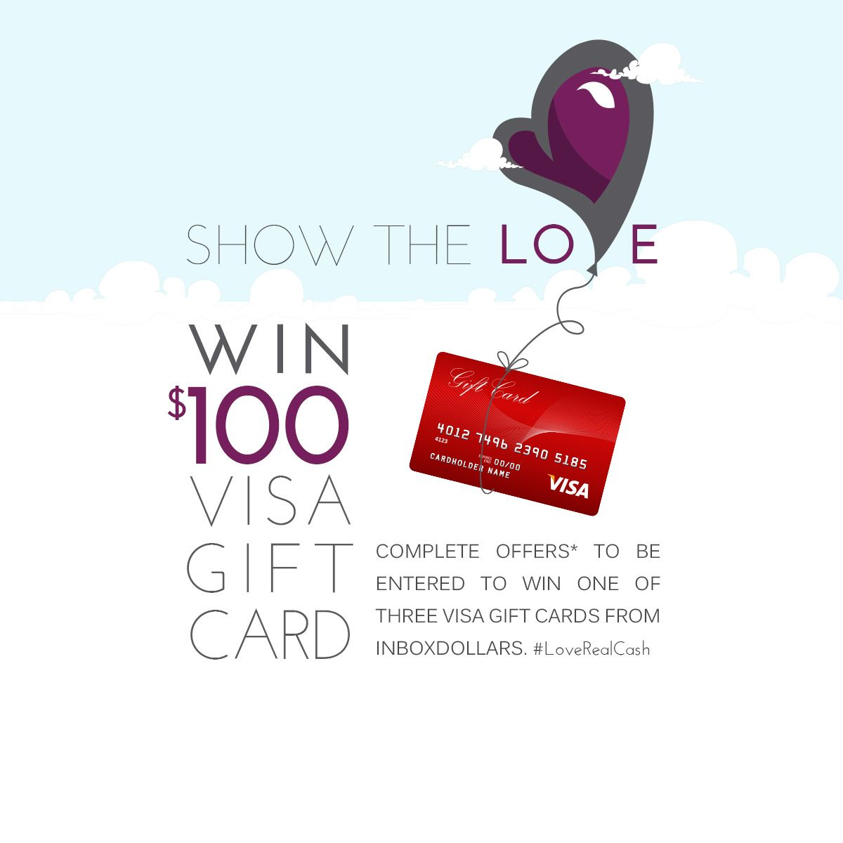 Share The Love With InboxDollars And Earn A Chance To Win