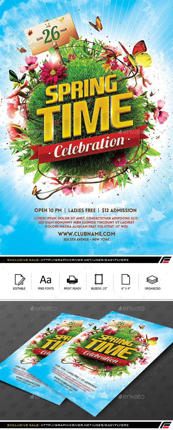 Spring Celebration Flyer Template Flyer template and Template