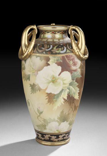 Impressive Nippon Vase