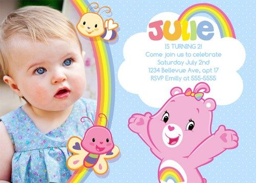 Care Bears Birthday Invitations Birthday Party card Digital – Care Bears Birthday Invitations