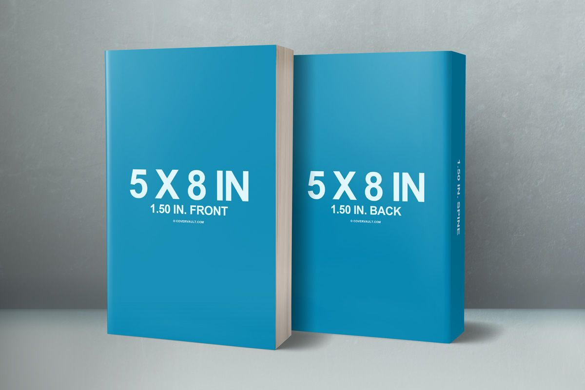 5 X 8 Front Back Cover Paperback Mockup Covervault Book Cover Mockup Book Cover Template Graphic Design Brochure