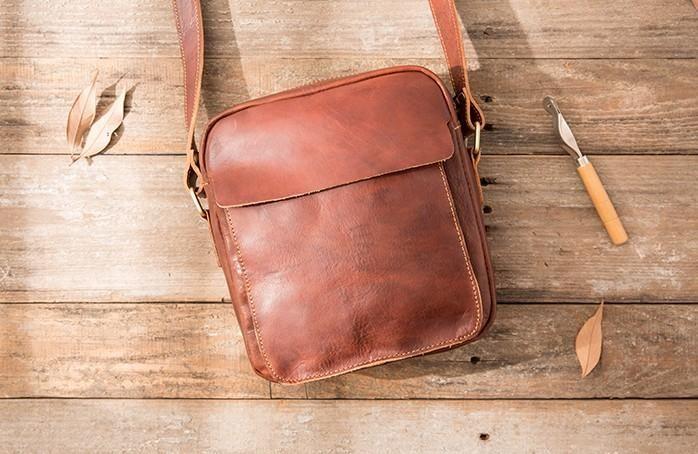 Black Small Leather Mens Shoulder Bags Messenger Bags for Men – iwalletsmen 48688a61a4