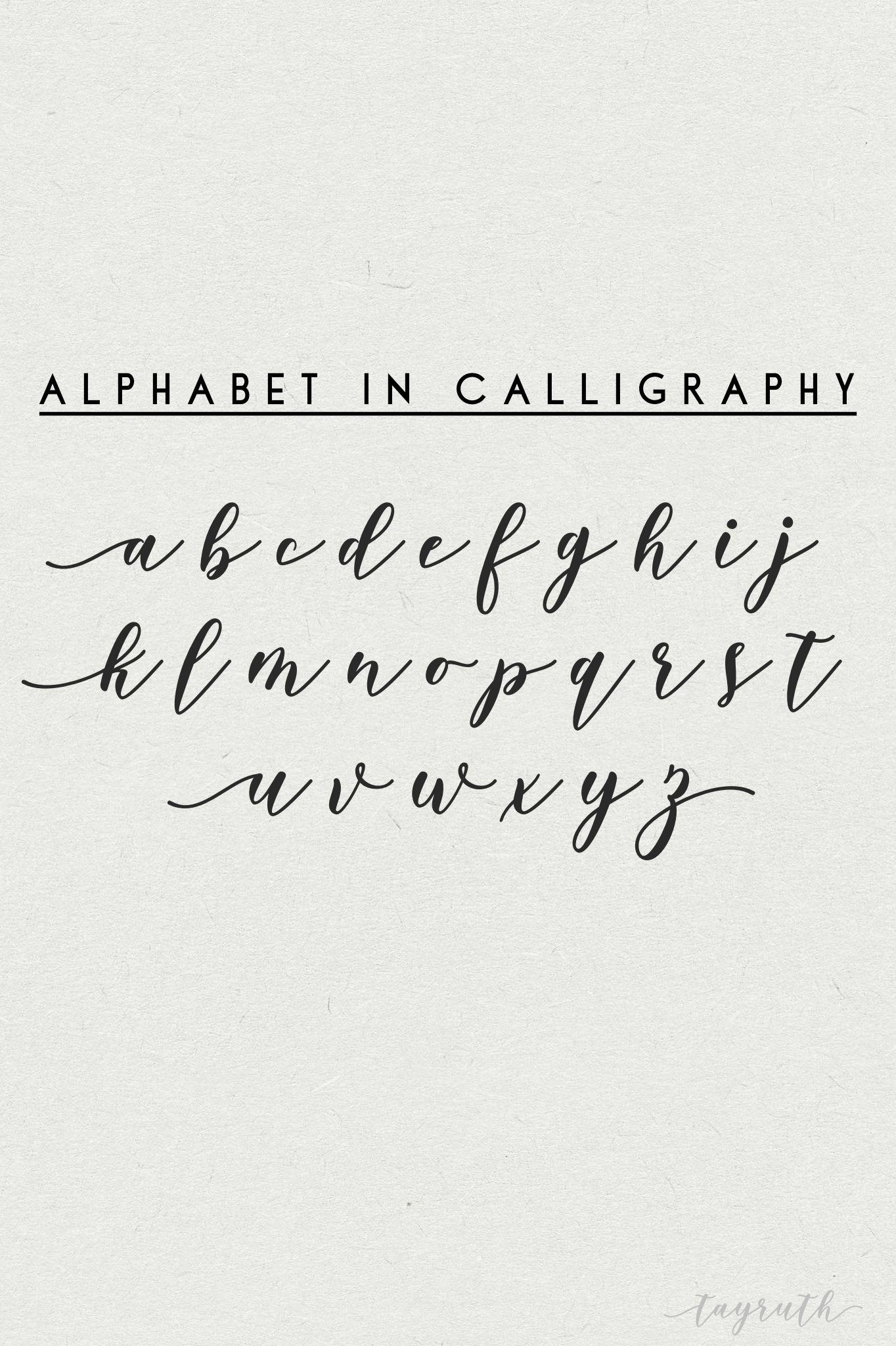 Practicing Calligraphy Alphabet Alphabetactivities Calligraphy